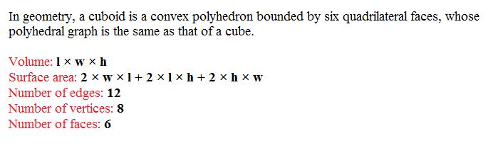 #Cuboid Def