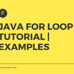 java for loop