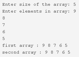 C Program To Copy All Elements From An Array