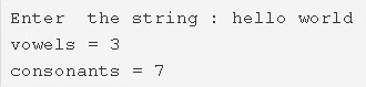 C Program Count Number Of Vowels & Consonants In A String