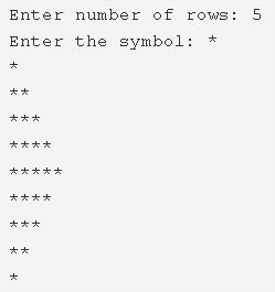 C Program Half Diamond Star Pattern   C Pattern Programs