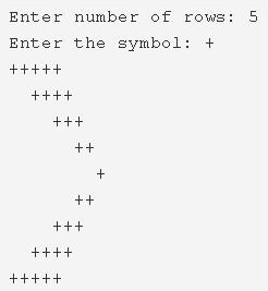 Right Arrow Star Pattern Program In C