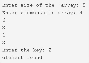 C Program To Search An Element In An Array | C Programs