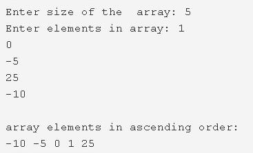 C Program To Sort Array Elements In Ascending Order   4 Ways