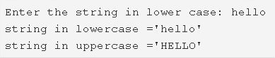 C Program To Convert Lowercase String To uppercase
