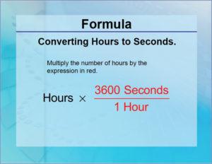 Java convert hours into seconds
